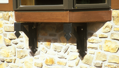 Window box supports - 16x10x4 inches