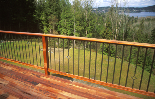 Railing with pickets -