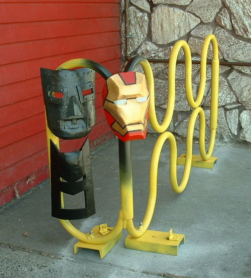 Mask Rack - mild painted steel 57x32x18 inches